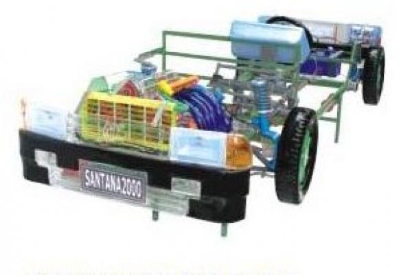 8比例制造,附汽车电路   07     桑塔纳2000型汽车驱动部分组合模型
